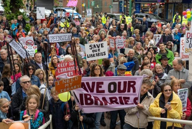 Libraries protest