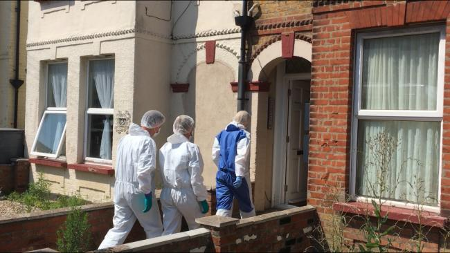 Forensics on scene after woman found dead in Clacton home