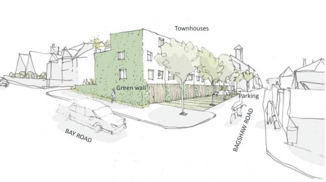 THREE-LINED STREET: An artist's impression of the council's plans for new townhouses