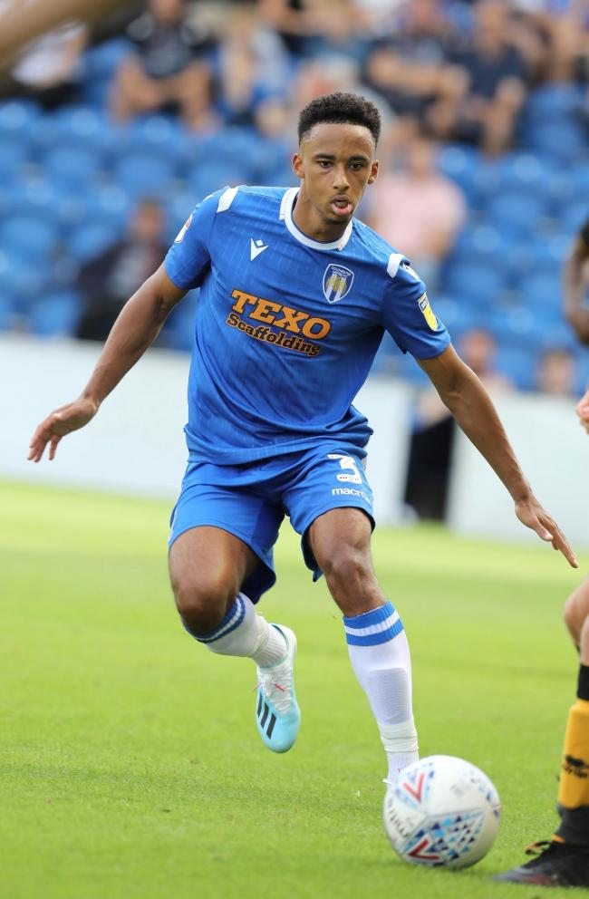 New face - Colchester United left-back Cohen Bramall in action during his debut against Port ValePicture by STEVE BRADING