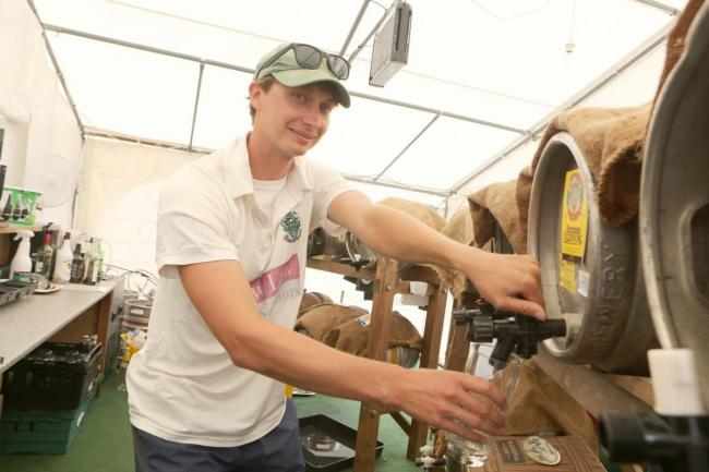 PINT PULLER: Halstead Cricket Club's Beer Festival is now in its 12th year