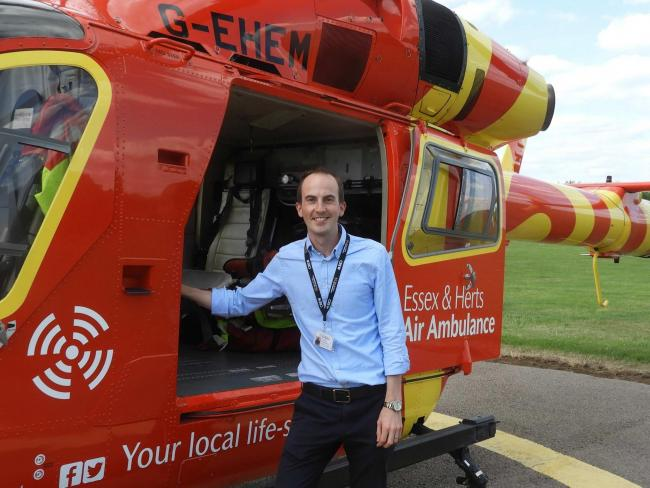 LIFE SAVER: Newly recruited Dr Chris King