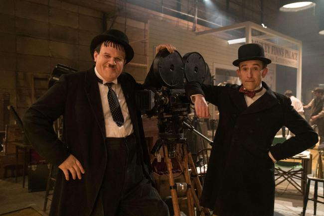 Undated film still handout from Stan & Ollie. Pictured: John C. Reilly as Oliver Hardy and Steve Coogan as Stan Laurel. See PA Feature SHOWBIZ Film Reviews. Picture credit should read: PA Photo/Entertainment One/Aimee Spinks. WARNING: This picture mu