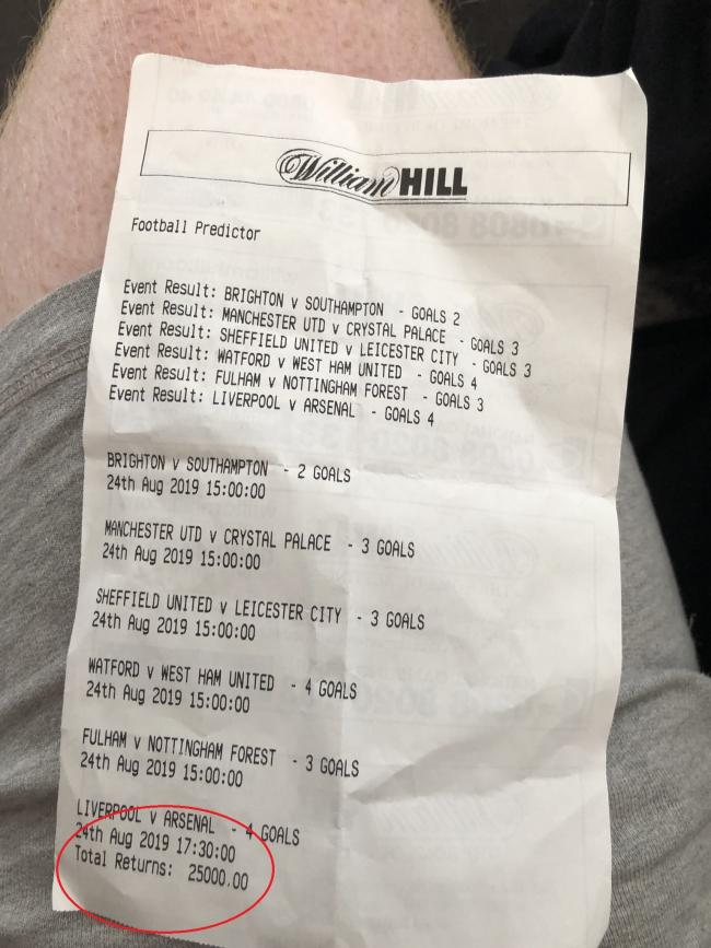 william hill bet slip