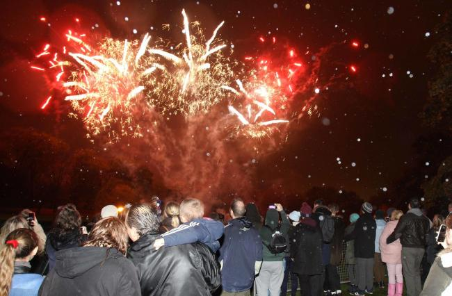 Disappointed - the dazzling Castle Park fireworks display typically attracts thousands of delighted spectators