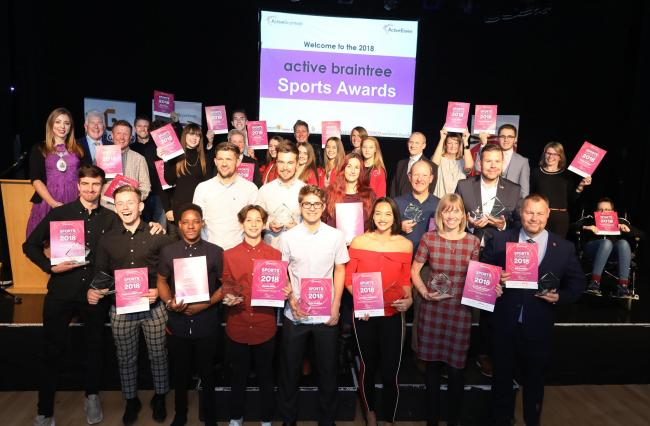 The award winners at last year's Active Braintree Sports Awards, but who will this year's winners be? Picture: Steve Brading