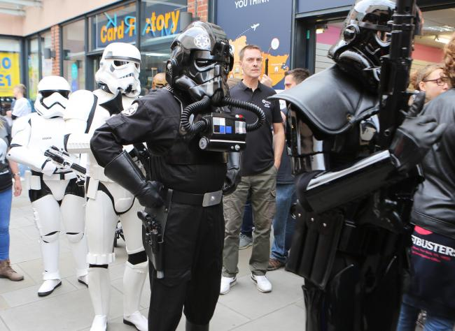 Dark side - Star Wars characters at Invasion Colchester
