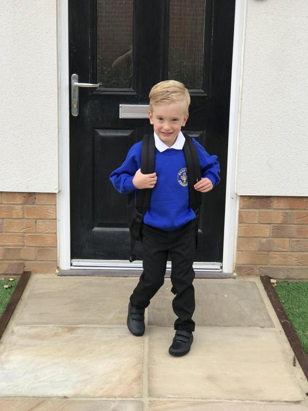 Halstead Gazette: Roman on his first day of school