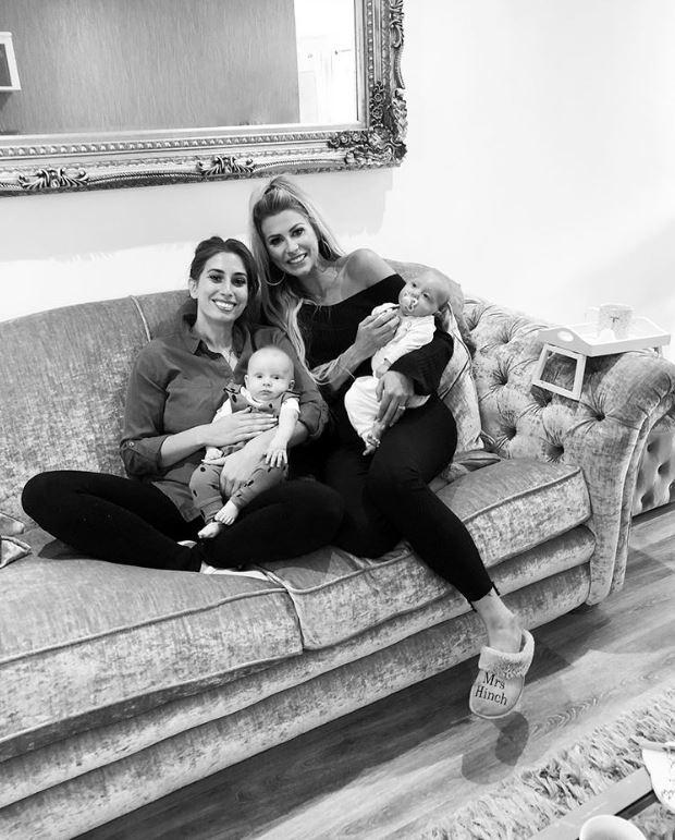 Sophie Hinchliffe and son, Ronnie with Stacey Solomon and son, Rex Photo: @mrshinchhome