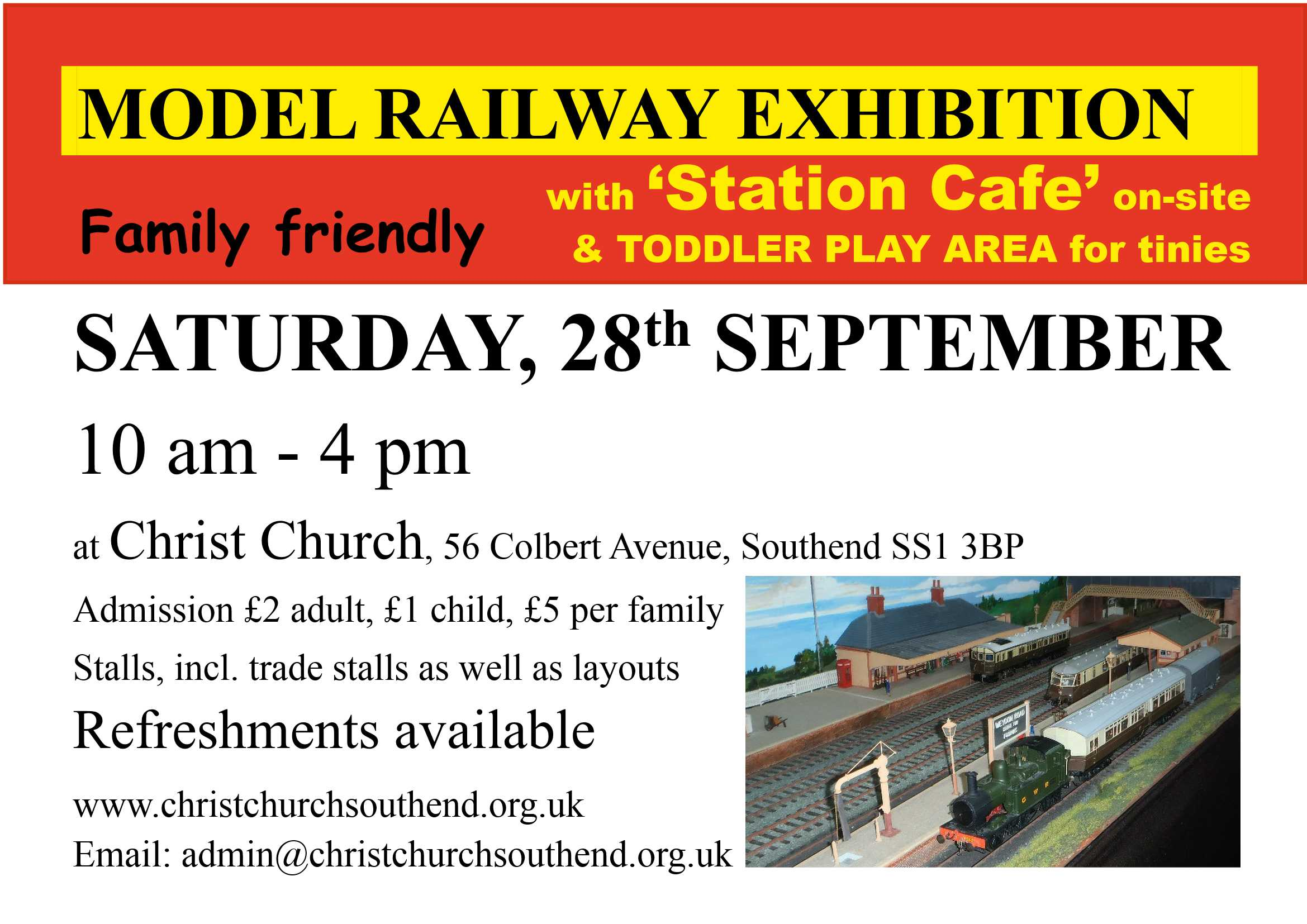 Model Railway Exhibition with Cafe and Toddler Play Area