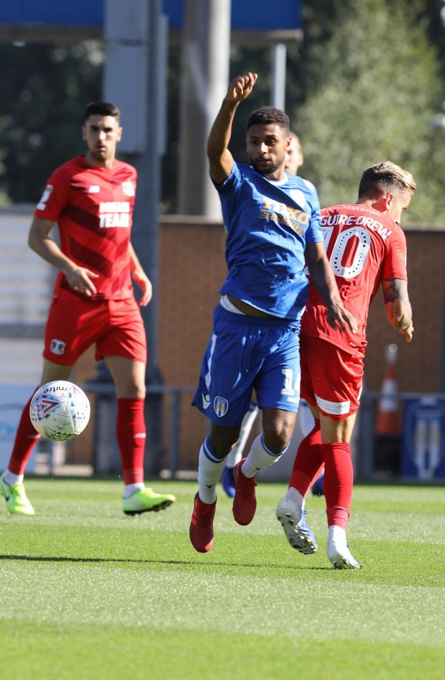 Impressive - Colchester United midfielder Brandon Comley performed well in their win over Leyton Orient Picture: STEVE BRADING