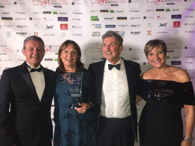 TRULY INSPIRATIONAL: Graham Whyatt, of James Hallam insurance brokers, with Davina Steel, husband Dan Jennings and Jackie Knight from the bakery