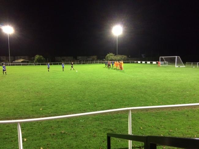 Action from tonight's First Division Knockout Cup tie between Little Oakley and Holland FC, which the Acorns won 3-1
