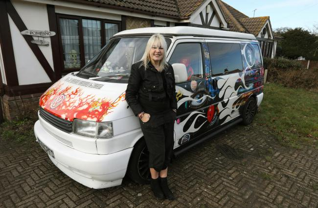 Jacqueline Huckle pictured previously showing off her van's artwork