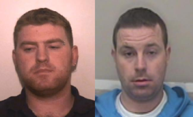 Ronan (left) and Christopher Hughes (right) are sought by Essex Police