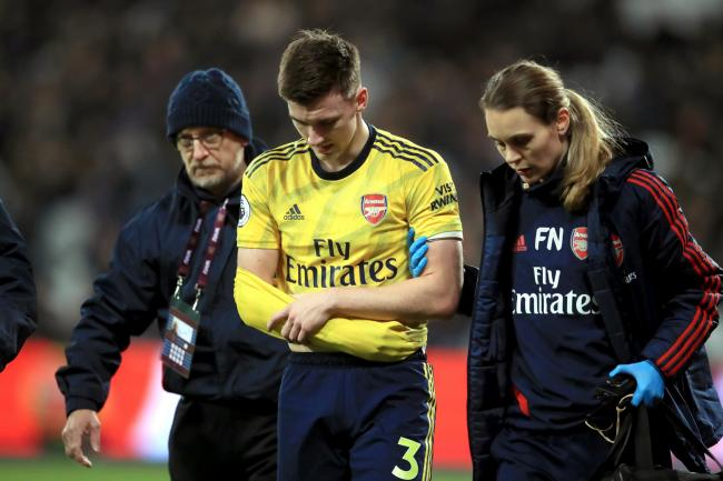 Arsenal's Kieran Tierney is set for a long absence