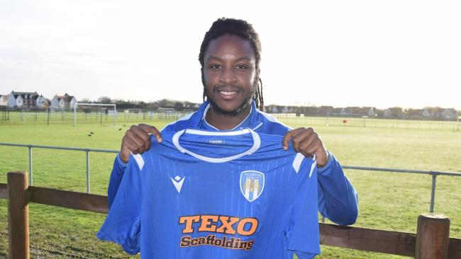 New recruit - Tafari Moore has signed for Colchester United on loan from Plymouth Argyle Picture: WWW.CU-FC.COM