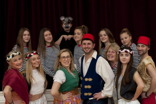 BEHIND YOU: The cast of Dick Whittington will be performing their last two shows this Saturday