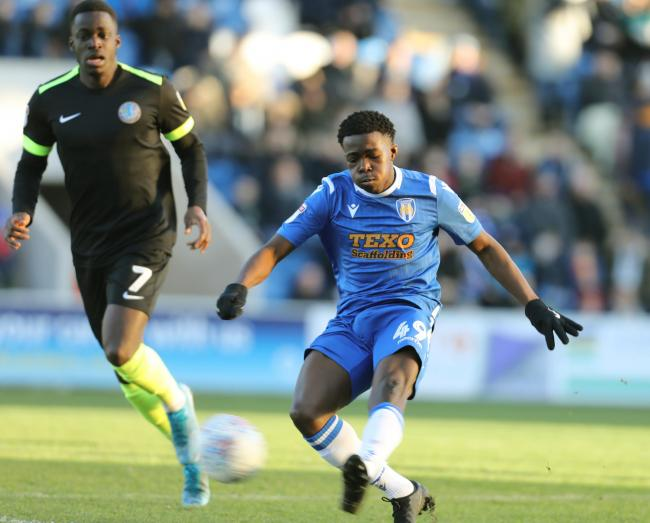 Flair - Colchester United youngster Kwame Poku was in excellent form against Exeter City Picture: STEVE BRADING