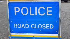 A1017 in Sible Hedingham is partially blocked