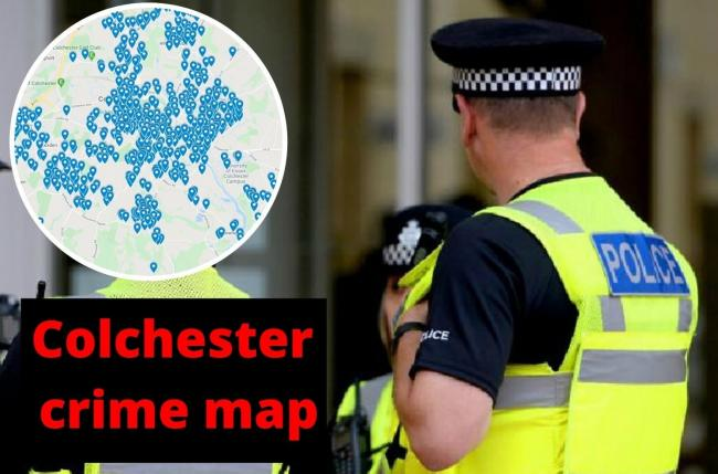 Mapped: Every crime reported in Colchester in one month