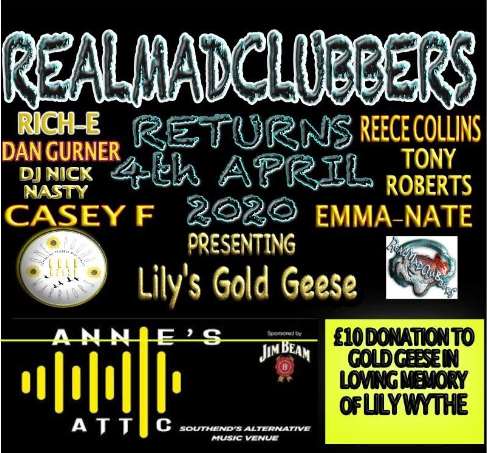 REALMADCLUBBERS LILY'S GOLD GEESE. (ONE POUND WARRIORS)