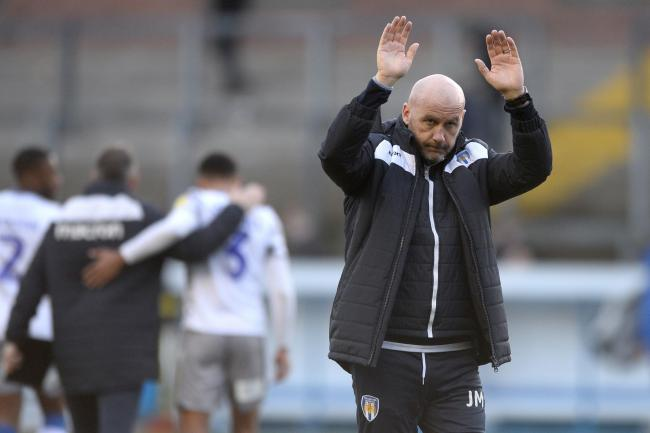 Hopeful - Colchester United head coach John McGreal is hoping to welcome his players back to training, possibly in the latter part of this week Picture: RICHARD BLAXALL