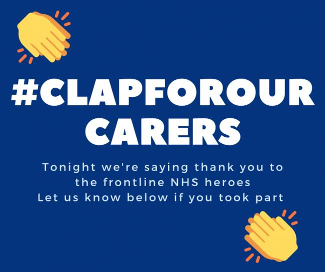 Millions across the country expected to take part in Clap for our Carers event. Picture: Hannah Bargery, Newsquest