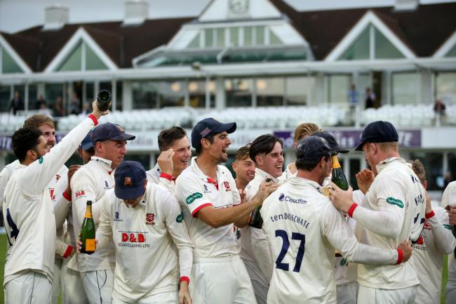 Reigning champions - Essex celebrate last year's title success