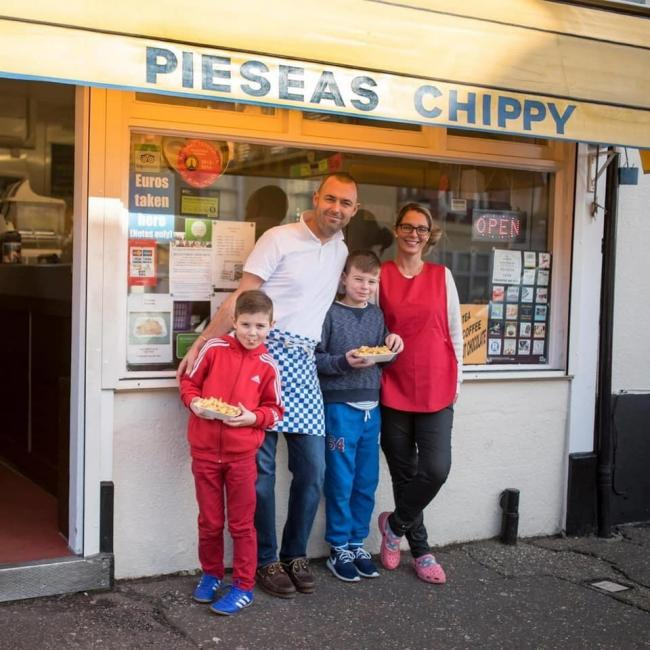 TEAM EFFORT: Pieseas Chippy has been thanked for the delicious deliveries