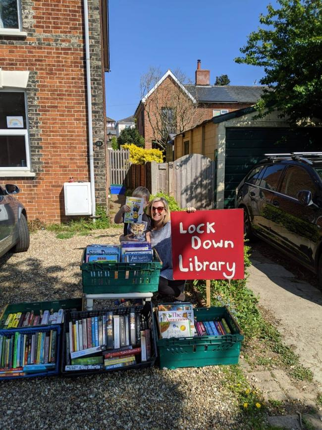 LOCKDOWN LIBRARY: Holly Turner started a initiative so people can access and read books