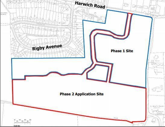 APPLICATION WITHDRAWN: Plans to build an additional 100 homes near Harwich Road, Mistley have been abandoned
