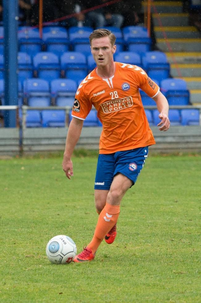 Cameron James during his loan spell with Braintree Town Picture: CHRIS JARVIS