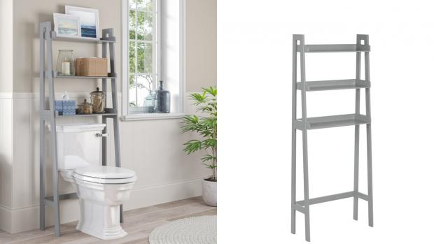 Halstead Gazette: Over-the-toilet units provide a lot more storage space. Credit: Wayfair