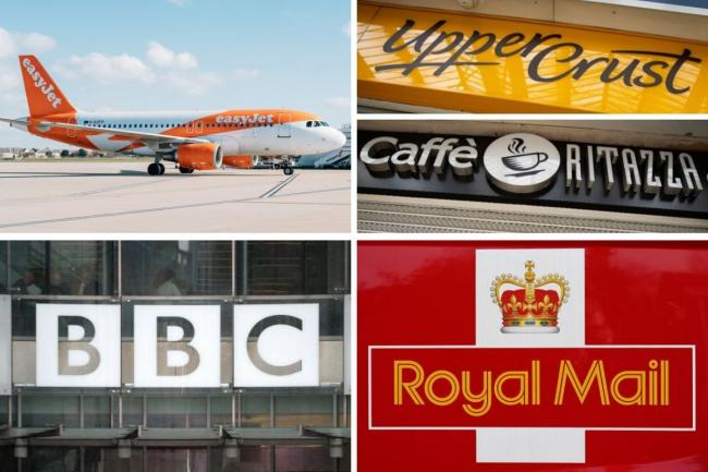 BBC, Upper Crust, Caffe Ritazza, easyJet and Royal Mail confirm job losses