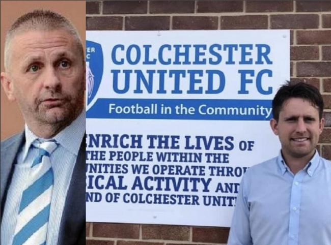 Alliance - Colchester United Football in the Community's Head of Community Corin Haines has praised U's chairman Robbie Cowling for his support