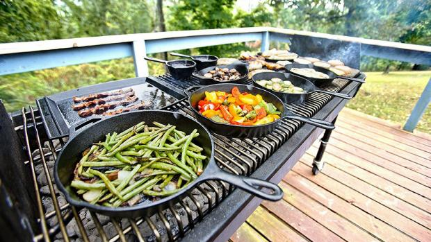 Halstead Gazette: A good cast iron (or four) can help you cook up vegetable and more on the BBQ. Credit: Amazon / Lodge