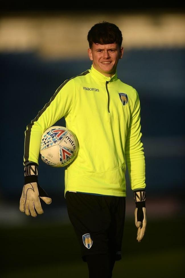Battling back - Colchester United goalkeeper Callum Coulter Picture: RICHARD BLAXALL