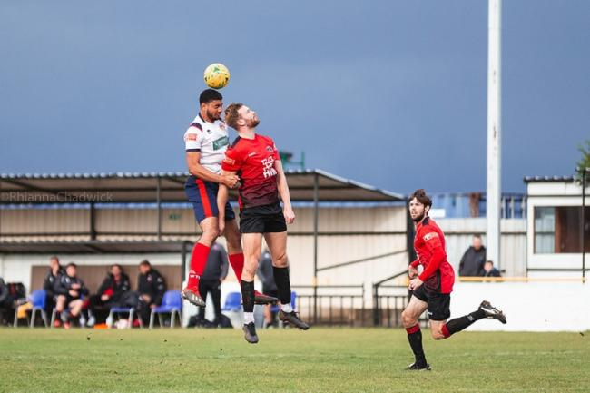 Witham Town in action against Histon Picture: RHIANNA CHADWICK