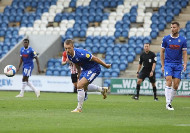 Back - Colchester United striker Luke Norris returned from injury against Leyton Orient Picture: STEVE BRADING