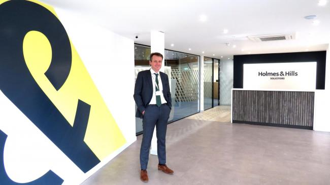 Managing Partner Mark Cornell in the new office