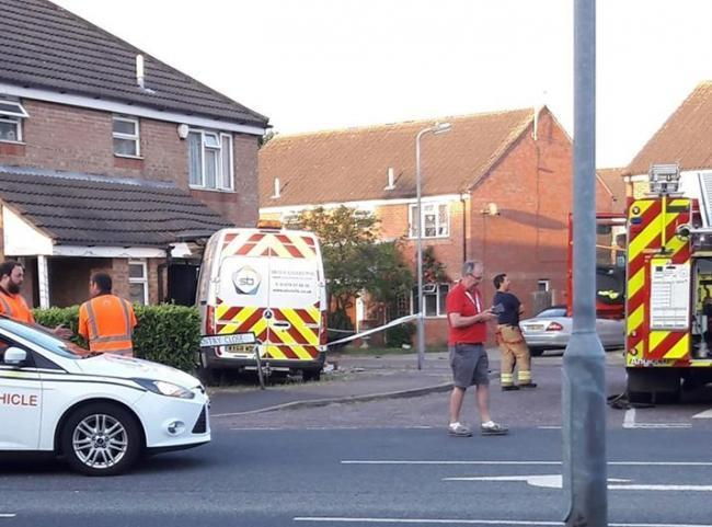 Aftermath - the scene in Chantry Close, Clacton, after the crash in June which wrecked a bathroom  		PICTURE: Lisa Jolly