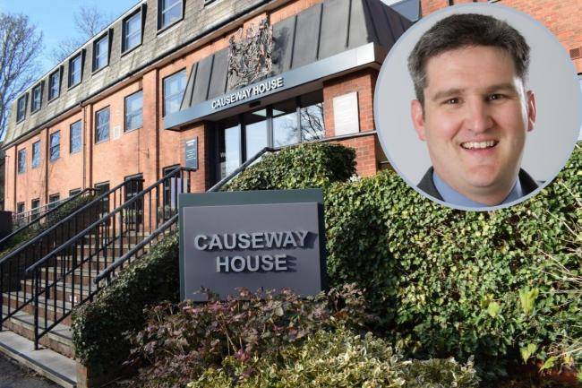 Causway House, (inset) Councillor Tom Cunningham