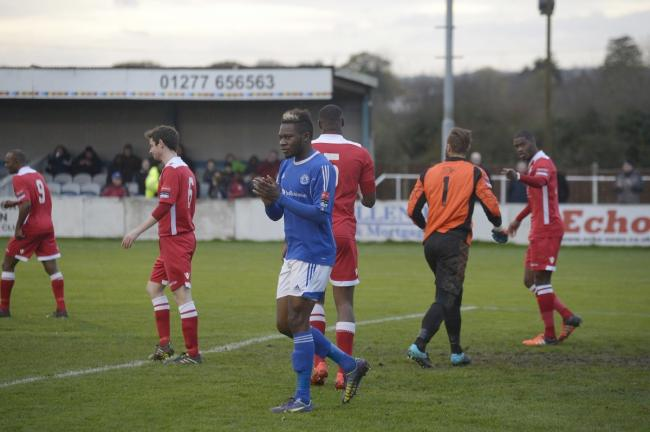 Forward thinking - Mike Fondop, pictured in action during his spell at Billericay Town, has joined Burton Albion Picture: AL UNDERWOOD