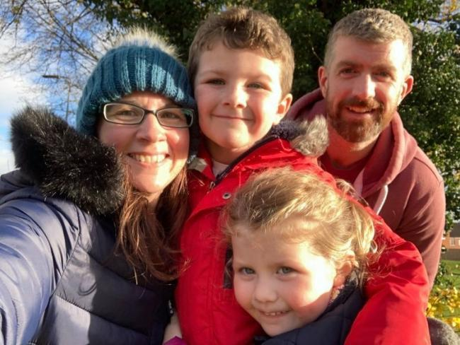 Missing - John Dick and his wife Lorna and children Emily, 3, and Oliver, 6, before he went missing