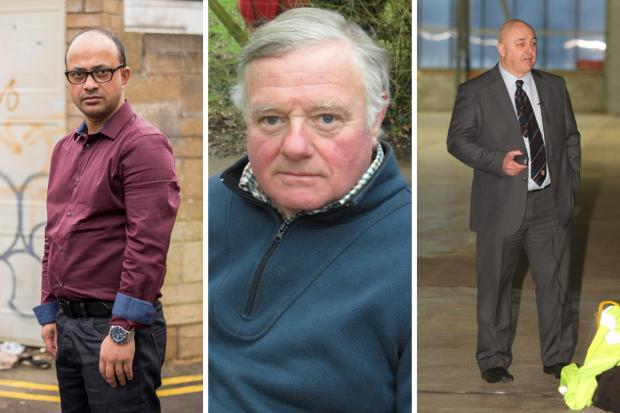 Junab Ali, Jonathon Seed, Mike Rees Pictures: NEWSQUEST