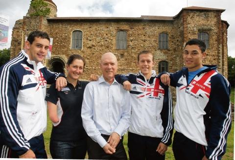 Dr Tony Rich Tony Rich earlier this year with Colchester's sporting champions Dominic King, Louis Present, Scott Moorhouse and Hannah Stodel