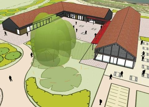 First impression – an artist's illustration of the proposed Hadleigh visitor centre
