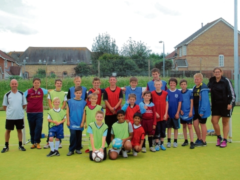 Children at the Nacro football sessions held at Halstead Leisure Centre