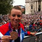 Halstead Gazette: Braintree: Hockey star Chloe Rogers shows off Olympic medal at parade